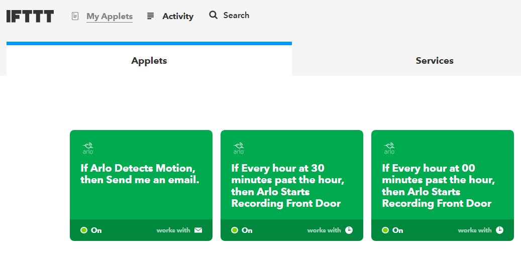 IFTTT record every hour applet not working - Arlo Communities