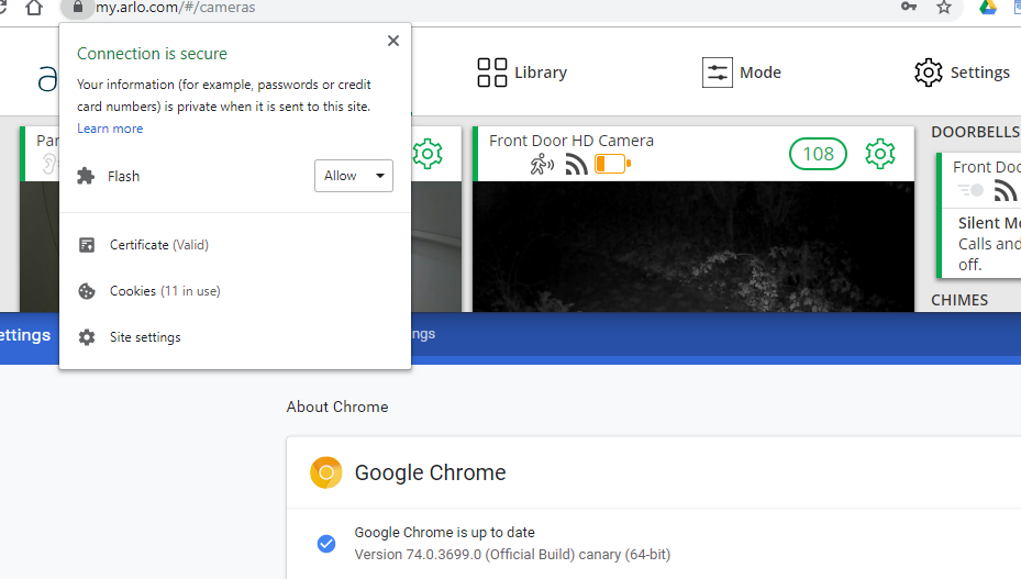 Arlo Flash Chrome Canary 74.PNG