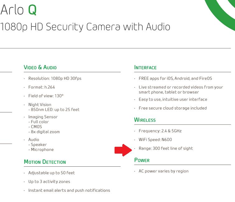 Arlo Q low wifi range - Arlo Communities