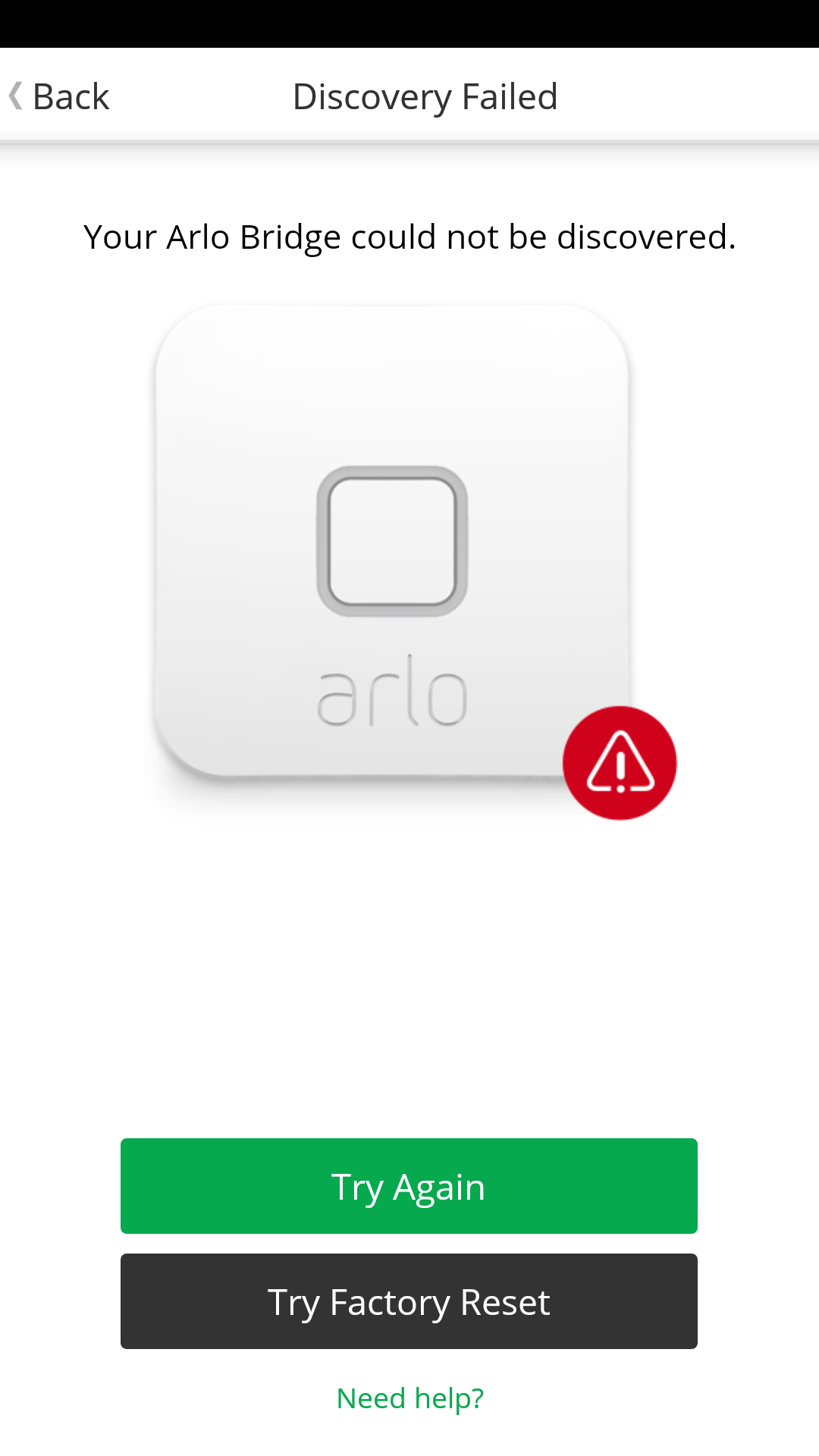Solved Arlo Security Light Bridge Not Connecting At All