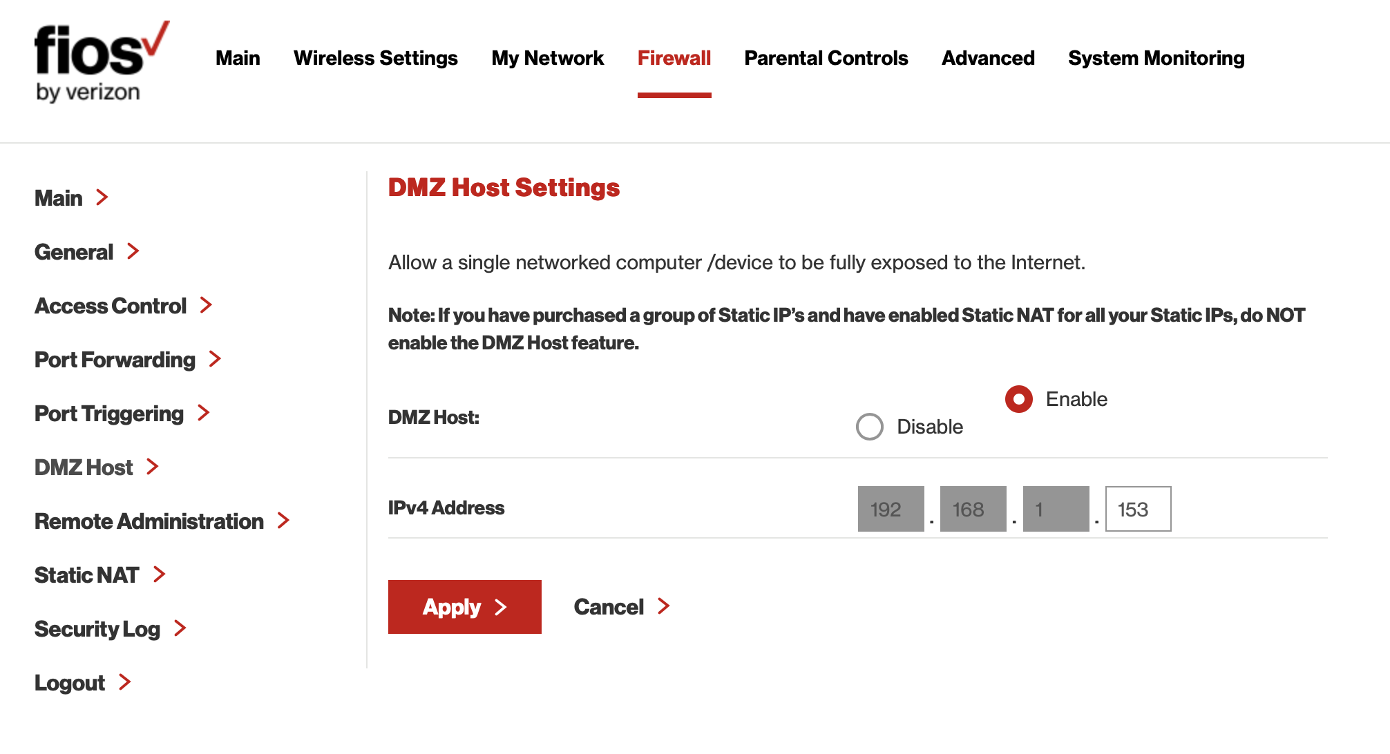 Solved: confirming Verizon Fios router G1100 settings - Pl